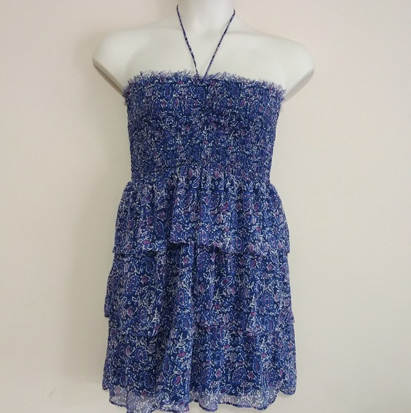 American Eagle Outfitters Dresses & Skirts - AEO Halter/Strapless Tiered Ruffle Mini Dress